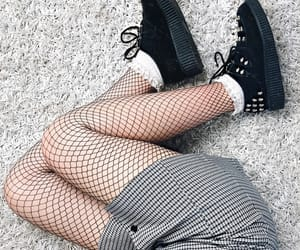 checkered, fishnets, and plaid image