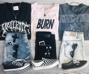 clothes, converse, and denim shorts image
