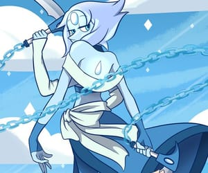 steven universe, blue, and cartoon image