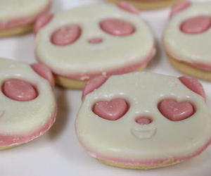 cookie, panda, and pink image