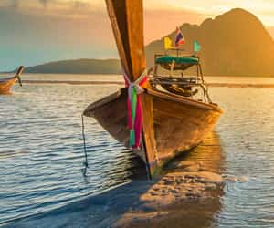 boat, beautiful, and relax image