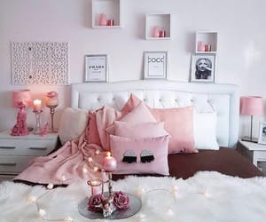 bedroom, candles, and home decor image