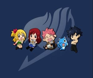 fairy tail, Lucy, and happy image