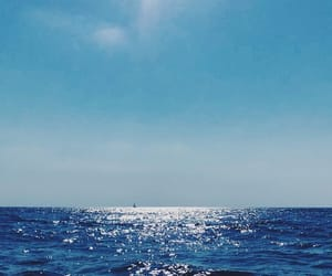 background, blue, and boat image