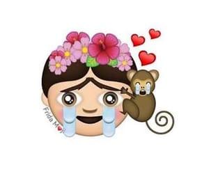 Frida, sad, and emoj image