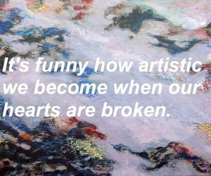 art, broken, and heart image