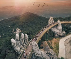 travel, Vietnam, and bridge image