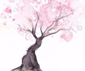art, cute, and cherry blossoms image