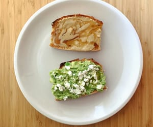 bread, breakfast, and tahini image
