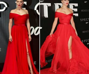 dress, red, and evening gown image