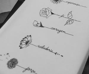 flowers, inspiration, and tattoo image
