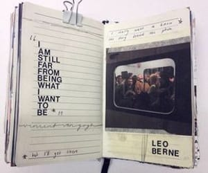 quotes, journal, and art image