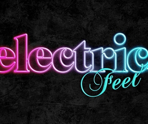 design, typography, and electric feel image