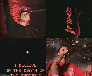 wallpaper, red, and justin bieber image