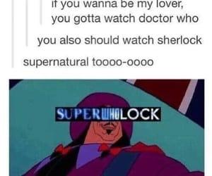 doctor who, sherlock, and superwholock image