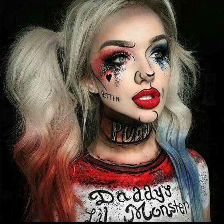 Harley Quinn makeup 💜 uploaded by 🌸 ℬ arbie 🌸