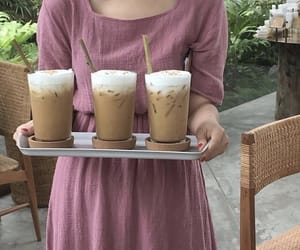 aesthetic, iced cappuccino, and beverages image