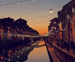 canal, italy, and milan image
