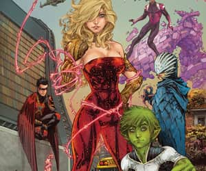 wonder girl, titans, and raven image