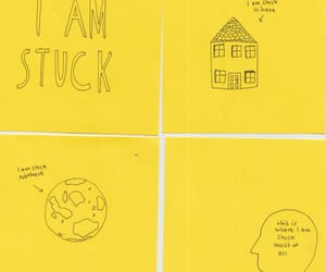 yellow, stuck, and quotes image