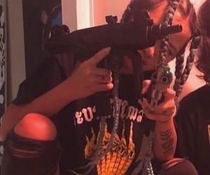 girl, gun, and cyber ghetto image