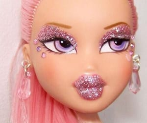 pink, bratz, and doll image