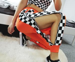 checkered, vans, and girl image