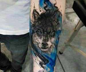 tatto, tinta, and wolf image