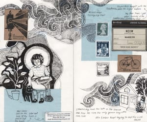 art journal, my art, and journaling-junkie image