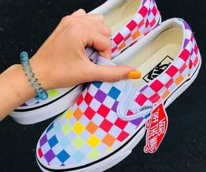 rainbow, shoes, and vans image