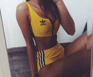 adidas, yellow, and body image