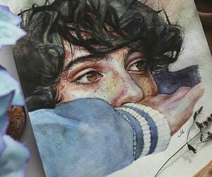 art, finn wolfhard, and draw image