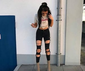 outfit, boots, and fashion image