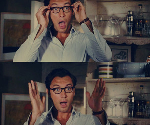 jude law, the holiday, and glasses image