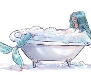 art, bath, and draw image