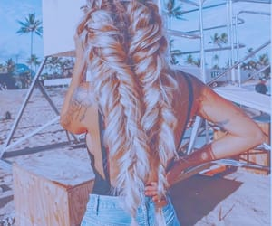 beach, beauty, and hair image