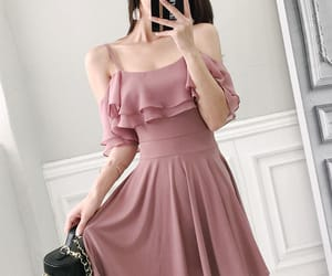 asian fashion, chiffon, and dress image