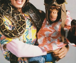 michael jackson, bad era, and bubbles the chimp image