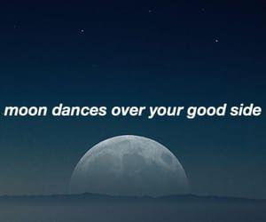 art, Lyrics, and moon image
