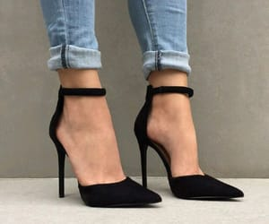 ankle, black, and chic image