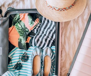 shoes, suitcase, and sunglasses image
