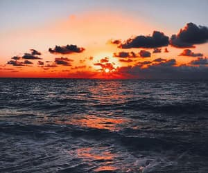 sky, sunset, and water image