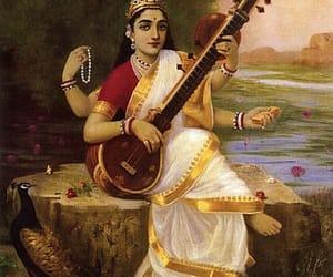 god, hinduism, and saraswati image