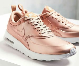 shoes, nike, and rose gold image