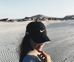beach, nike, and sun image
