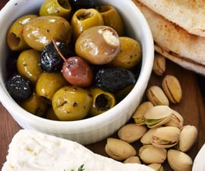 olive, food, and nuts image
