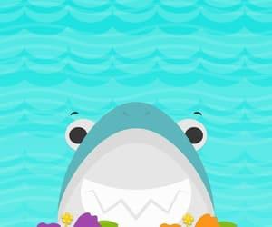 background, sea, and shark image
