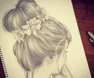 beauty, girl, and drawings image
