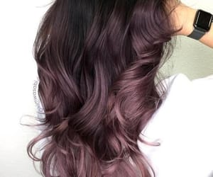 brown, hair, and curl image