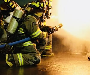 career, firefighter, and job image